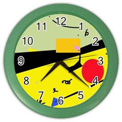 Party In The Desert  Color Wall Clocks
