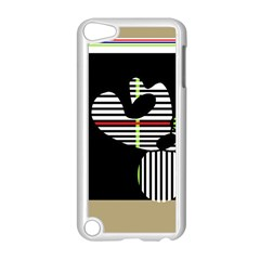 Abstract Art Apple Ipod Touch 5 Case (white) by Valentinaart