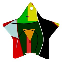 Abstract Lady Ornament (star)  by Valentinaart