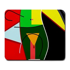 Abstract Lady Large Mousepads by Valentinaart