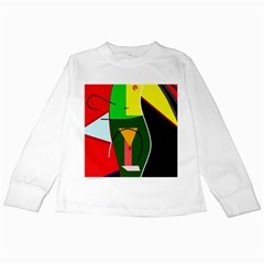 Abstract Lady Kids Long Sleeve T Shirts by Valentinaart
