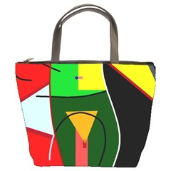 Abstract Lady Bucket Bags by Valentinaart