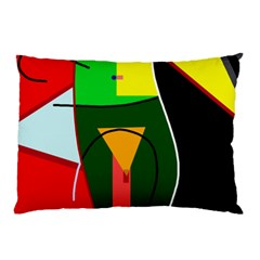 Abstract Lady Pillow Case by Valentinaart