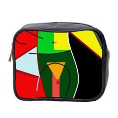 Abstract Lady Mini Toiletries Bag 2 Side by Valentinaart
