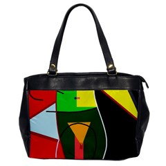 Abstract Lady Office Handbags by Valentinaart