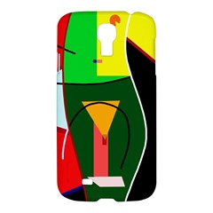 Abstract Lady Samsung Galaxy S4 I9500/i9505 Hardshell Case by Valentinaart