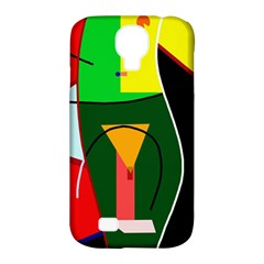 Abstract Lady Samsung Galaxy S4 Classic Hardshell Case (pc+silicone) by Valentinaart