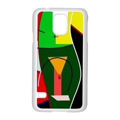 Abstract Lady Samsung Galaxy S5 Case (white)