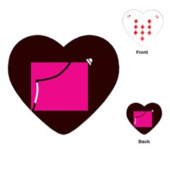 Pink Square  Playing Cards (heart)