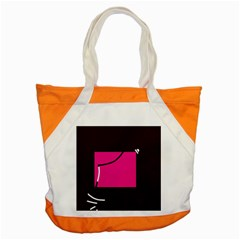 Pink Square  Accent Tote Bag by Valentinaart