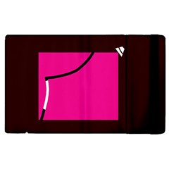 Pink Square  Apple Ipad 2 Flip Case by Valentinaart