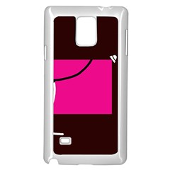Pink Square  Samsung Galaxy Note 4 Case (white) by Valentinaart