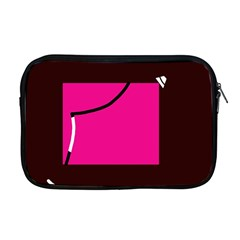 Pink Square  Apple Macbook Pro 17  Zipper Case