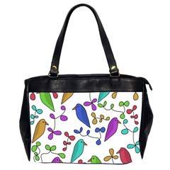 Birds And Flowers Office Handbags (2 Sides)  by Valentinaart