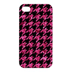 Houndstooth1 Black Marble & Pink Marble Apple Iphone 4/4s Premium Hardshell Case by trendistuff