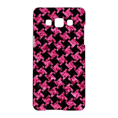 Houndstooth2 Black Marble & Pink Marble Samsung Galaxy A5 Hardshell Case  by trendistuff
