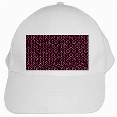 Hexagon1 Black Marble & Pink Marble White Cap by trendistuff