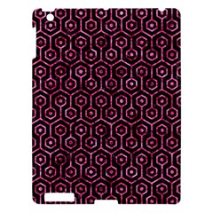Hexagon1 Black Marble & Pink Marble Apple Ipad 3/4 Hardshell Case by trendistuff