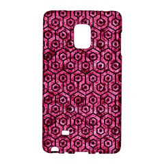 Hexagon1 Black Marble & Pink Marble (r) Samsung Galaxy Note Edge Hardshell Case by trendistuff