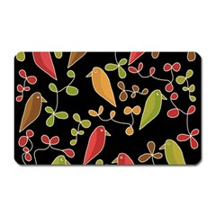 Flowers And Birds  Magnet (rectangular) by Valentinaart