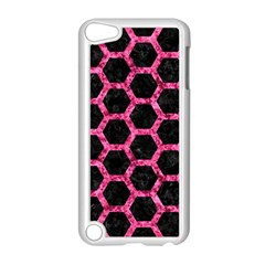 Hexagon2 Black Marble & Pink Marble Apple Ipod Touch 5 Case (white) by trendistuff