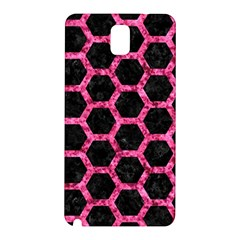 Hexagon2 Black Marble & Pink Marble Samsung Galaxy Note 3 N9005 Hardshell Back Case by trendistuff