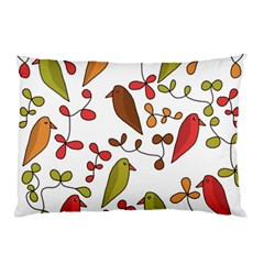 Birds And Flowers 3 Pillow Case