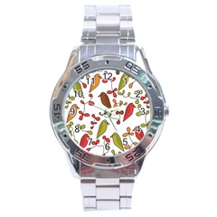 Birds And Flowers 3 Stainless Steel Analogue Watch by Valentinaart
