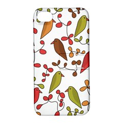 Birds And Flowers 3 Apple Iphone 4/4s Hardshell Case With Stand by Valentinaart