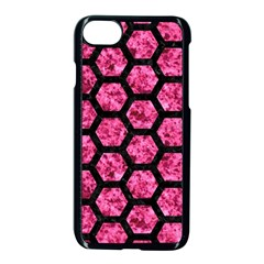Hexagon2 Black Marble & Pink Marble (r) Apple Iphone 7 Seamless Case (black) by trendistuff