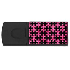 Puzzle1 Black Marble & Pink Marble Usb Flash Drive Rectangular (4 Gb) by trendistuff