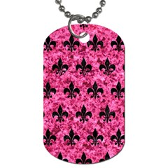 Royal1 Black Marble & Pink Marble Dog Tag (two Sides) by trendistuff