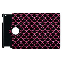Scales1 Black Marble & Pink Marble Apple Ipad 2 Flip 360 Case by trendistuff