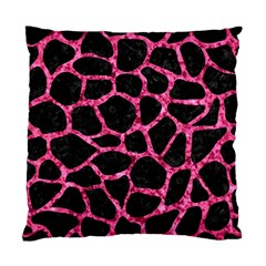 Skin1 Black Marble & Pink Marble (r) Standard Cushion Case (one Side) by trendistuff
