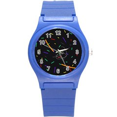Colorful Beauty Round Plastic Sport Watch (s) by Moma