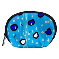 Rainy Day   Blue Accessory Pouches (medium)