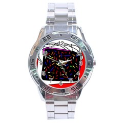 Color Tv Stainless Steel Analogue Watch by Moma