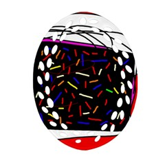 Color Tv Ornament (oval Filigree)  by Moma