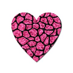 Skin1 Black Marble & Pink Marble Magnet (heart)