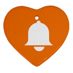 Bell Orange Copy Heart Ornament (2 Sides) by AnjaniArt