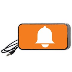 Bell Orange Copy Portable Speaker (black)  by AnjaniArt
