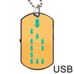 A Community Manager Los Que Aspirants Dog Tag Usb Flash (two Sides)  by AnjaniArt