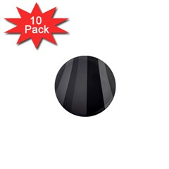 Black Minimalistic Gray Stripes 1  Mini Magnet (10 Pack)
