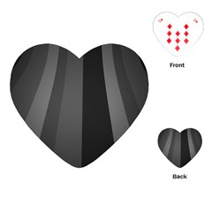 Black Minimalistic Gray Stripes Playing Cards (heart)