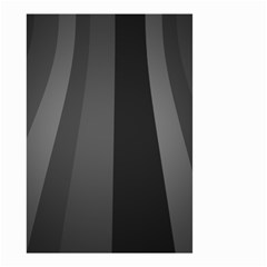 Black Minimalistic Gray Stripes Small Garden Flag (two Sides)