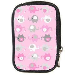 Animals Elephant Pink Cute Compact Camera Cases