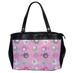 Animals Elephant Pink Cute Office Handbags by AnjaniArt