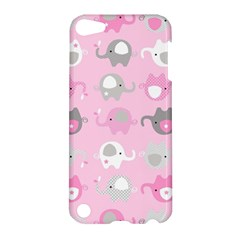 Animals Elephant Pink Cute Apple Ipod Touch 5 Hardshell Case by AnjaniArt