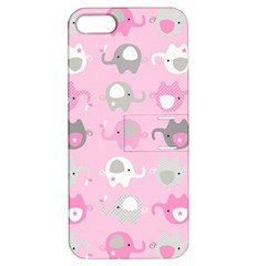 Animals Elephant Pink Cute Apple Iphone 5 Hardshell Case With Stand