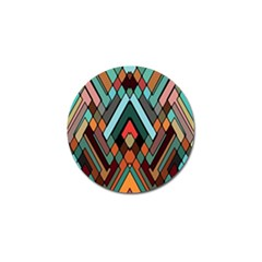 Abstract Mosaic Color Box Golf Ball Marker by AnjaniArt